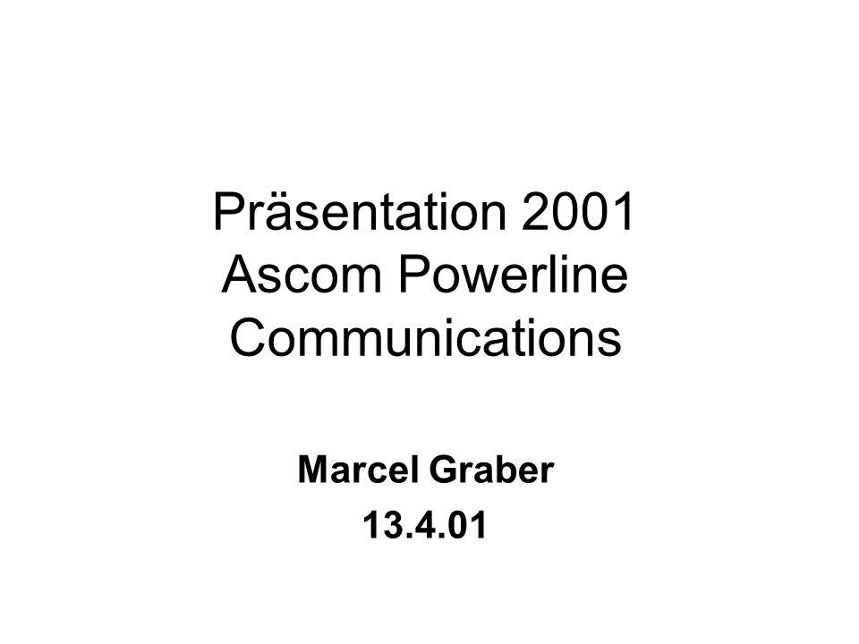 Präsentation 2001 Ascom Powerline Communications