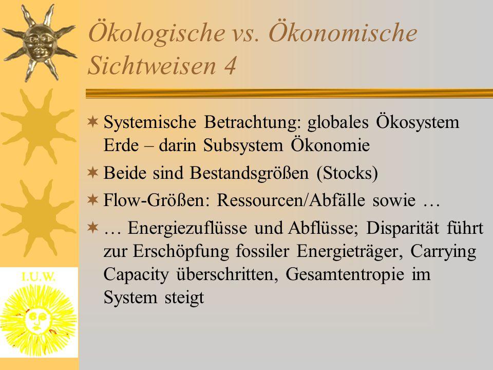 Ökologische vs. Ökonomische Sichtweisen 4
