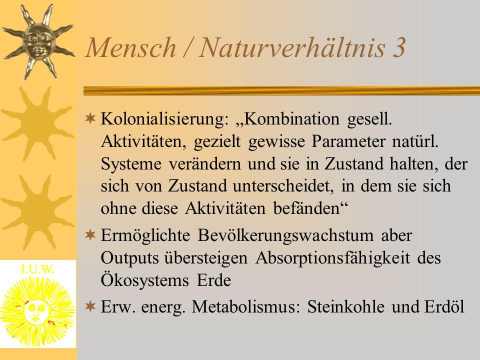 Mensch / Naturverhältnis 3