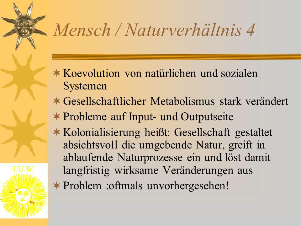 Mensch / Naturverhältnis 4