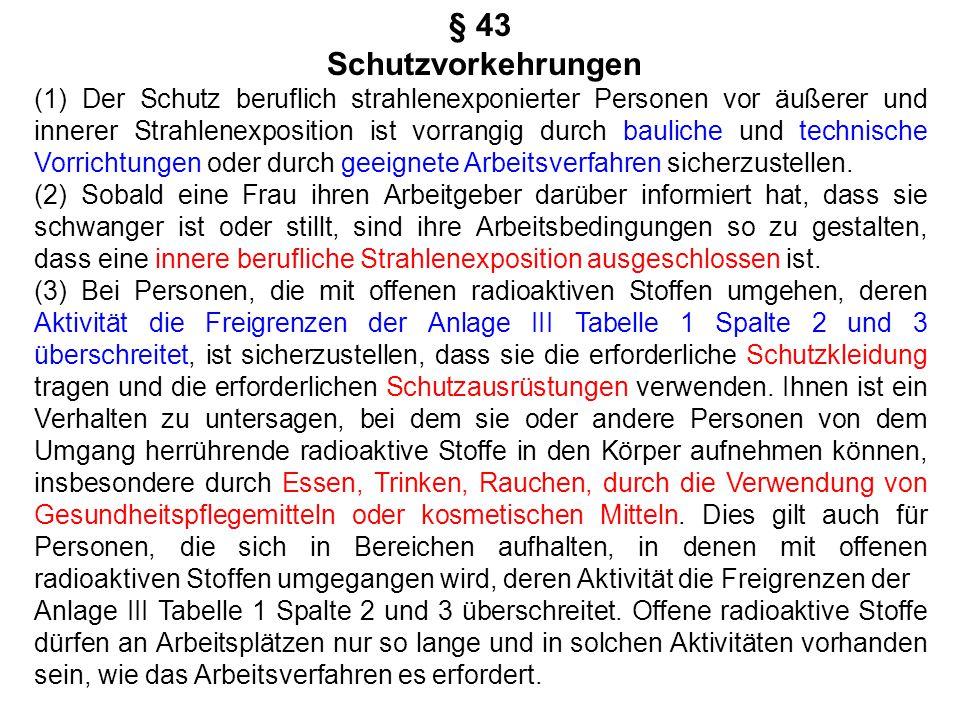 § 43 Schutzvorkehrungen.