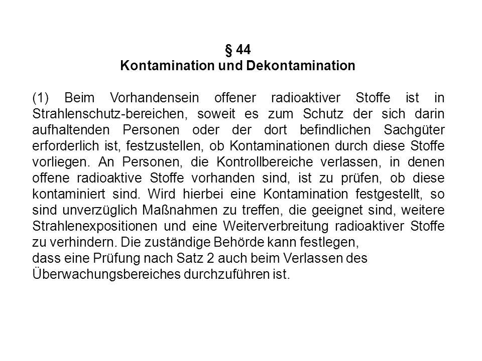 Kontamination und Dekontamination