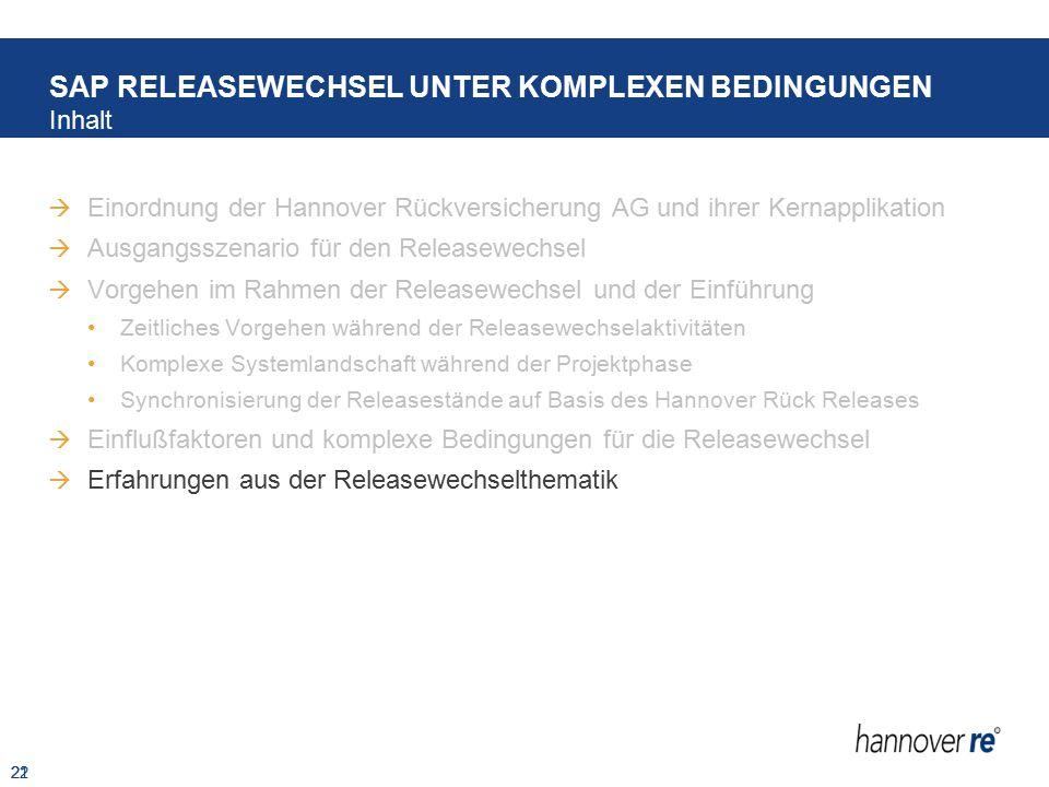 SAP RELEASEWECHSEL UNTER KOMPLEXEN BEDINGUNGEN