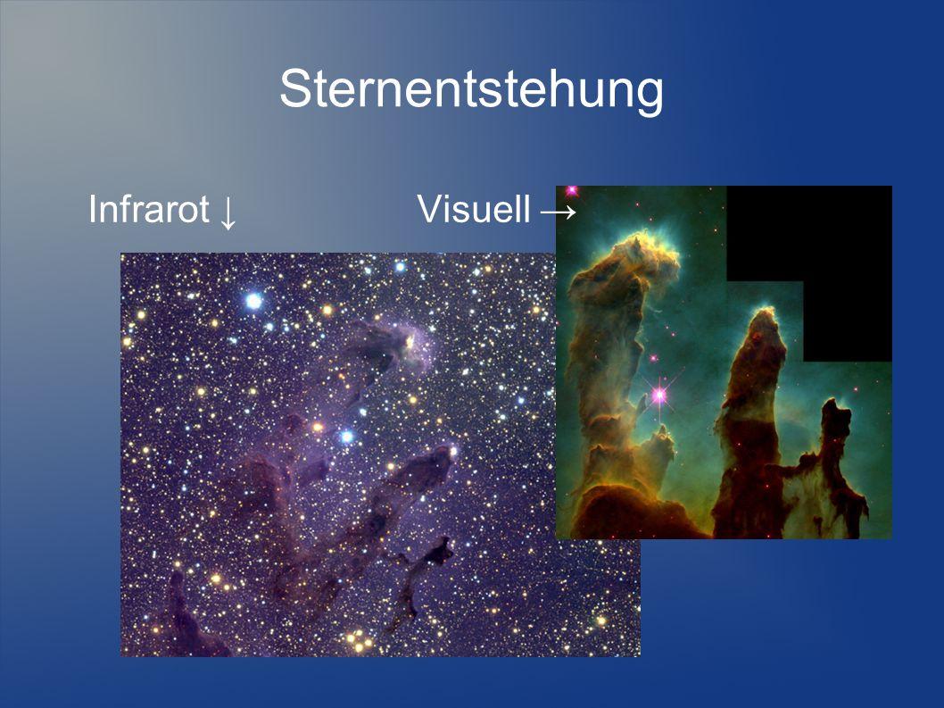 Sternentstehung Infrarot ↓ Visuell →