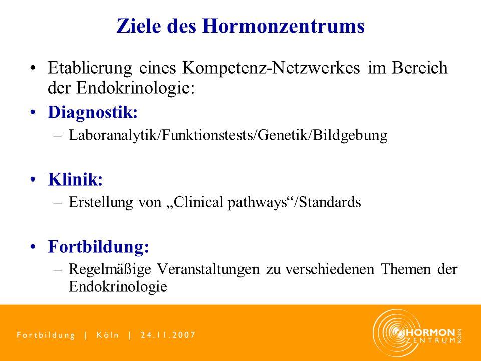 Ziele des Hormonzentrums