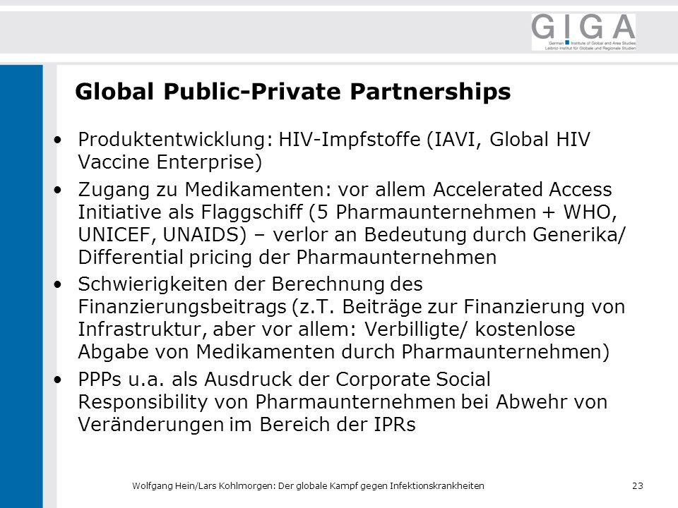 Global Public-Private Partnerships