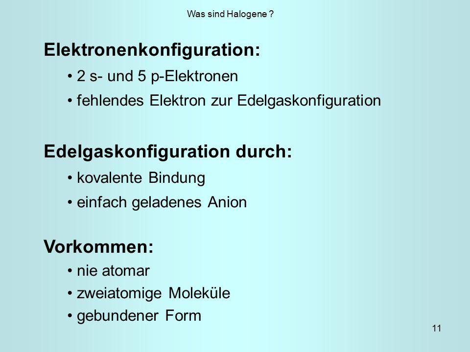 Elektronenkonfiguration: