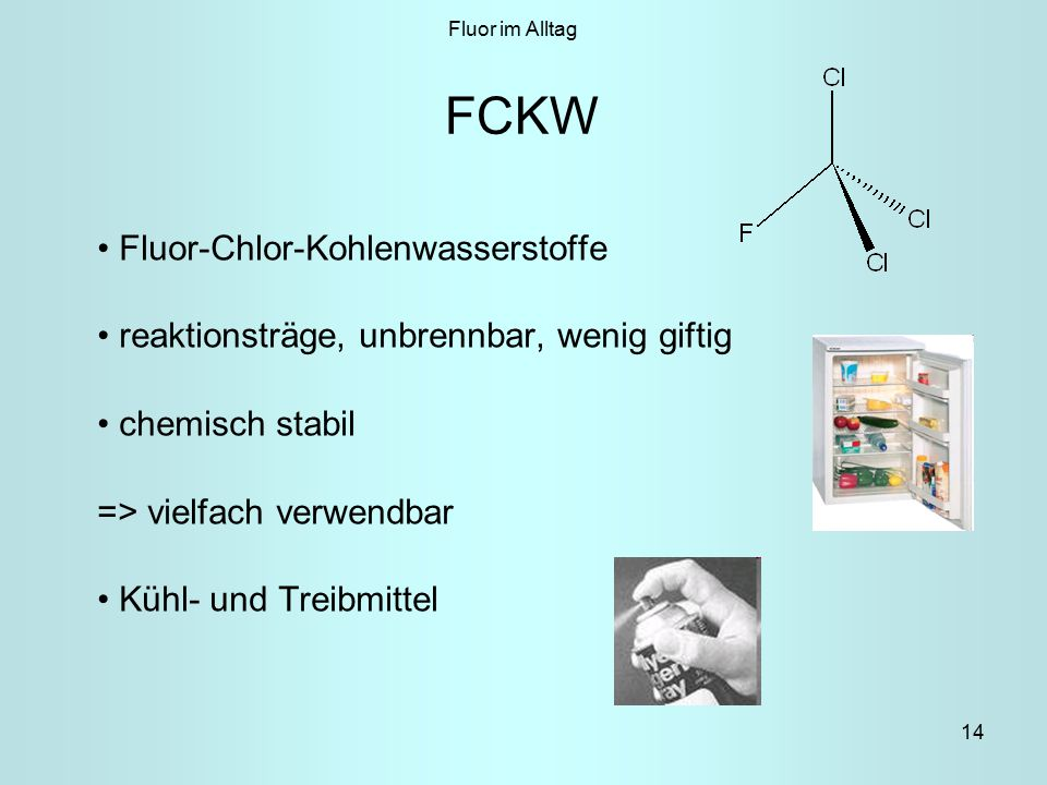 FCKW Fluor-Chlor-Kohlenwasserstoffe