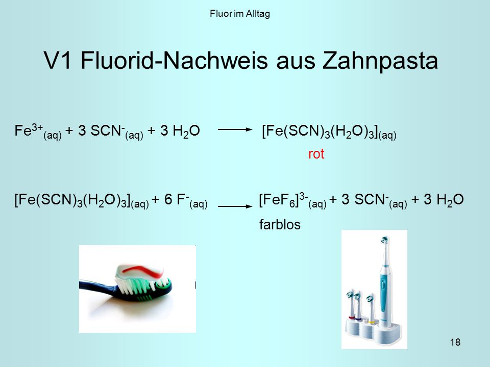 V1 Fluorid-Nachweis aus Zahnpasta