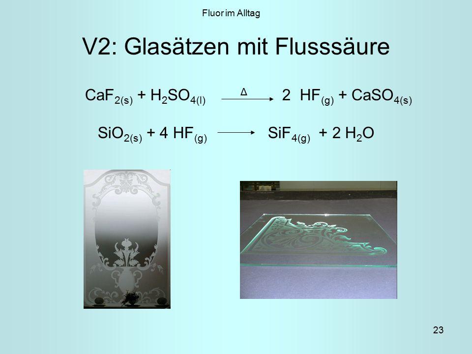V2: Glasätzen mit Flusssäure
