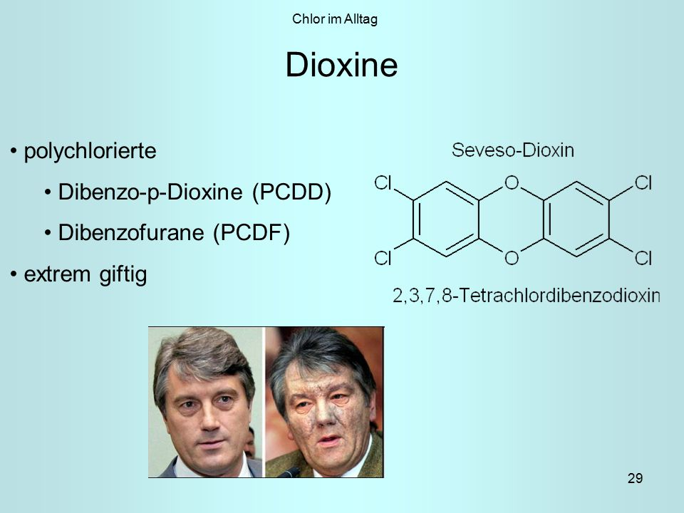 Dioxine polychlorierte Dibenzo-p-Dioxine (PCDD) Dibenzofurane (PCDF)