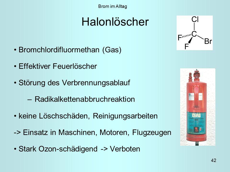 Halonlöscher Bromchlordifluormethan (Gas) Effektiver Feuerlöscher