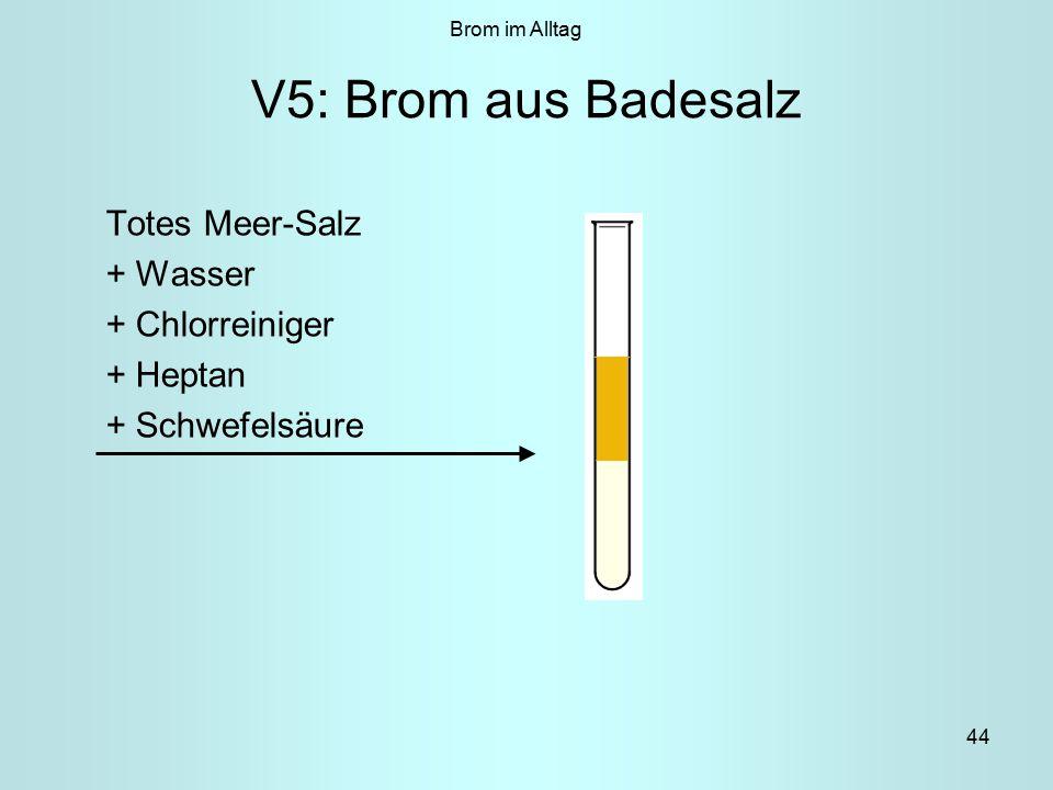 V5: Brom aus Badesalz Totes Meer-Salz + Wasser + Chlorreiniger