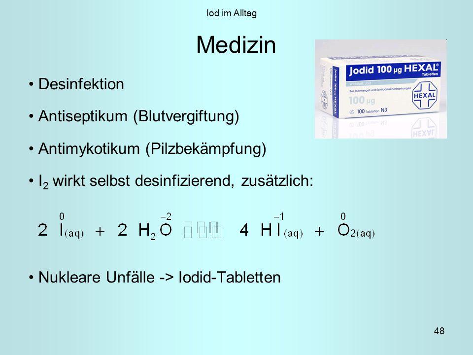 Medizin Desinfektion Antiseptikum (Blutvergiftung)