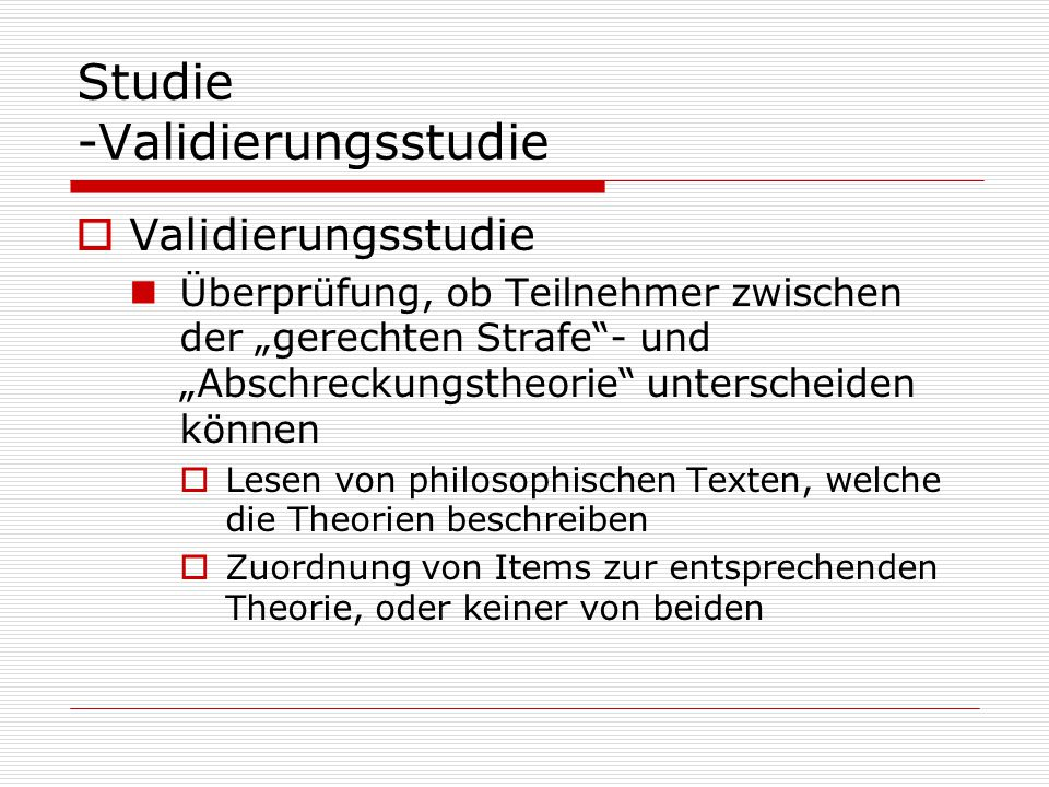 Studie -Validierungsstudie