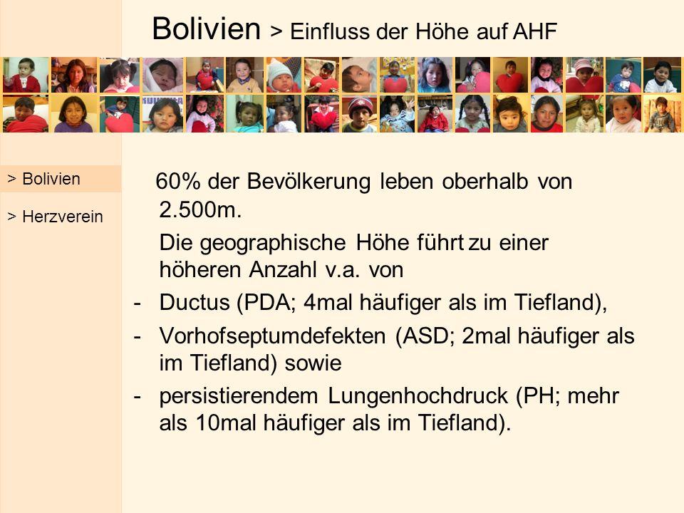 Bolivien > Einfluss der Höhe auf AHF