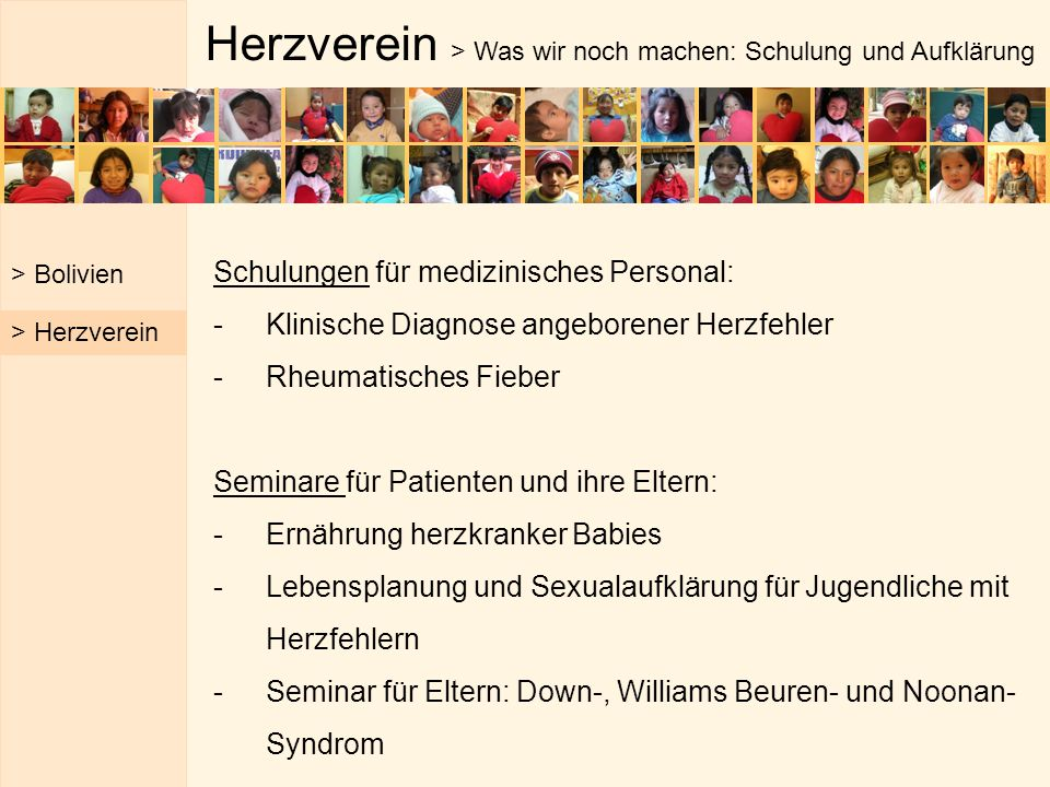Herzverein > Was wir noch machen: Schulung und Aufklärung