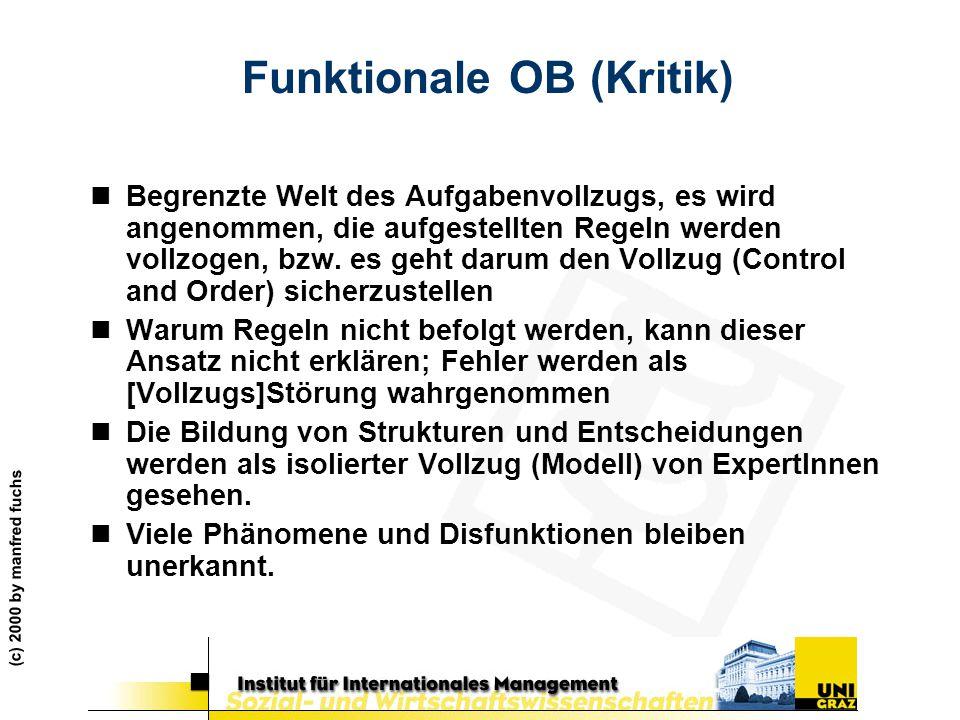 Funktionale OB (Kritik)