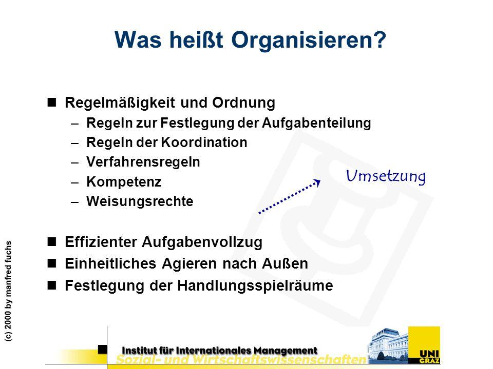Was heißt Organisieren