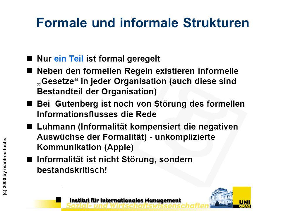 Formale und informale Strukturen