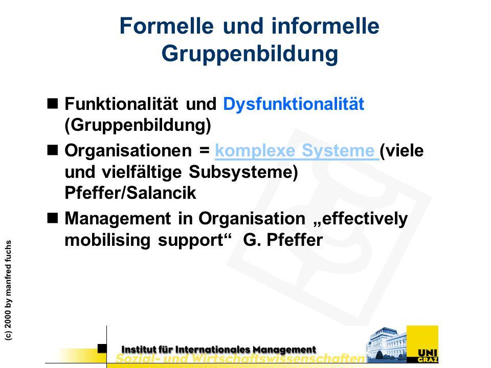 Formelle und informelle Gruppenbildung