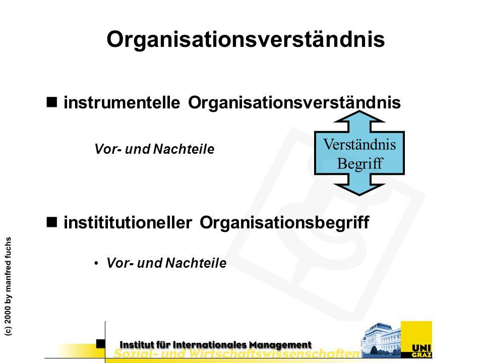 Organisationsverständnis