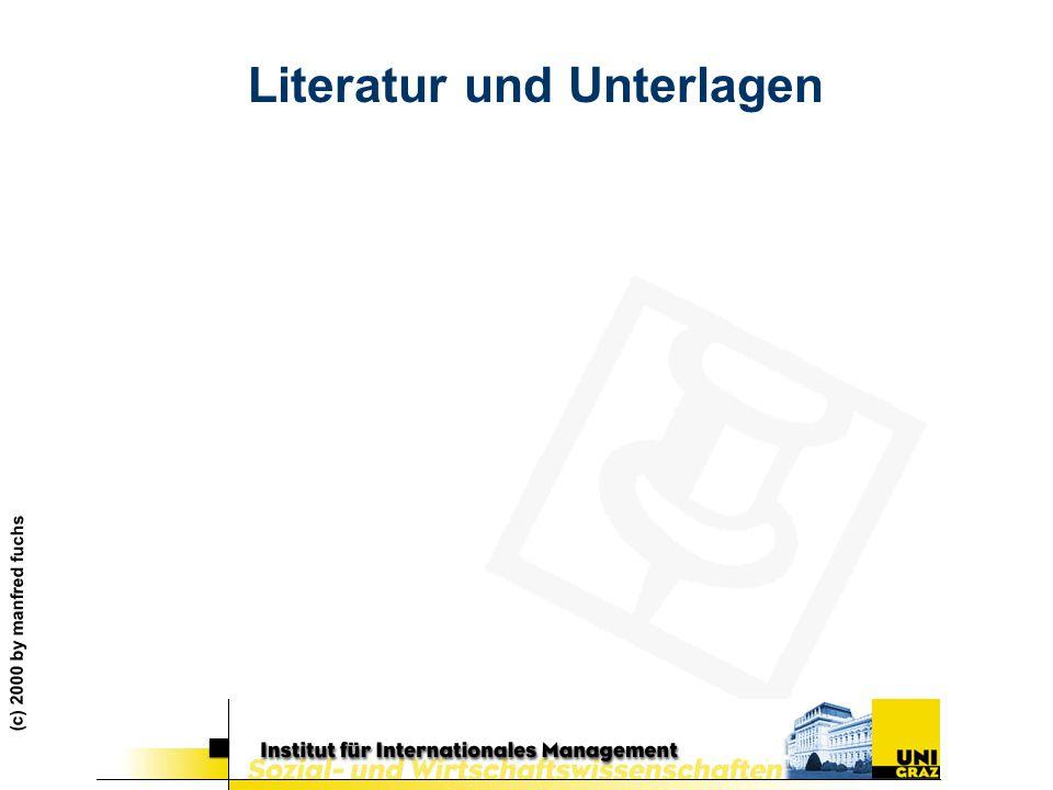 Literatur und Unterlagen