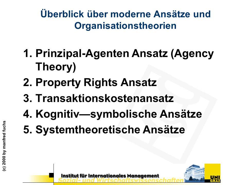 Überblick über moderne Ansätze und Organisationstheorien