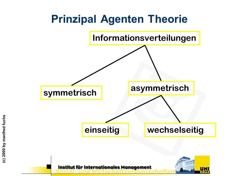 Prinzipal Agenten Theorie