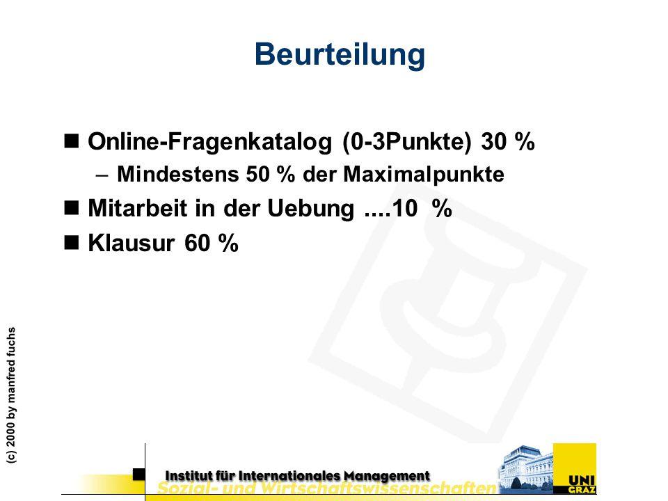 Beurteilung Online-Fragenkatalog (0-3Punkte) 30 %