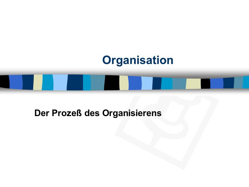Der Prozeß des Organisierens