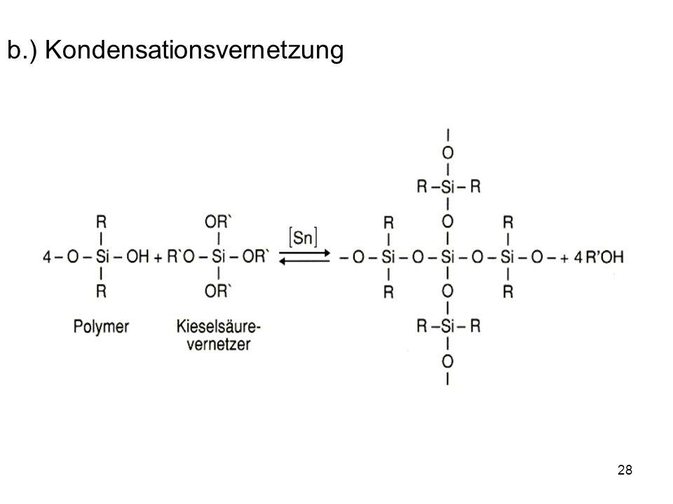 b.) Kondensationsvernetzung