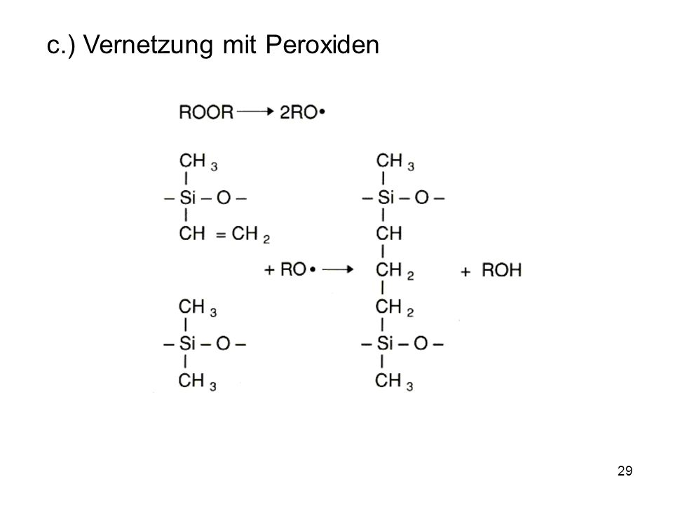 c.) Vernetzung mit Peroxiden