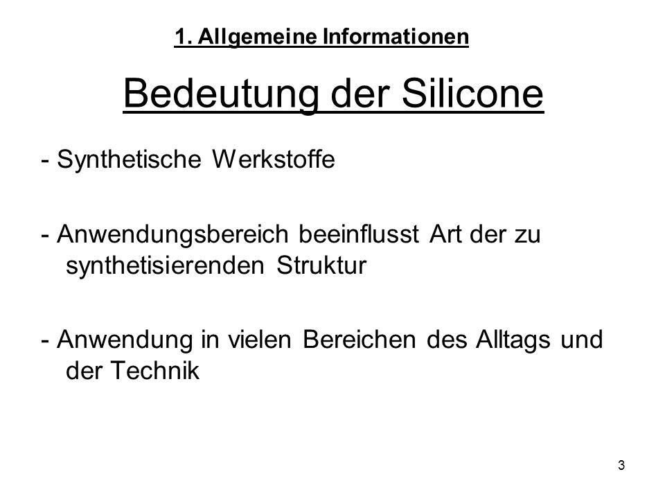 Bedeutung der Silicone