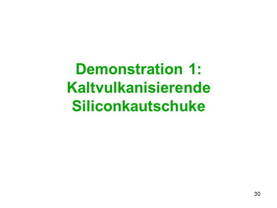Demonstration 1: Kaltvulkanisierende Siliconkautschuke