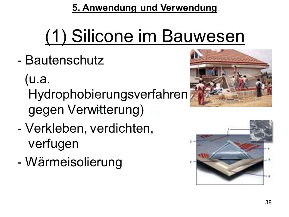 (1) Silicone im Bauwesen