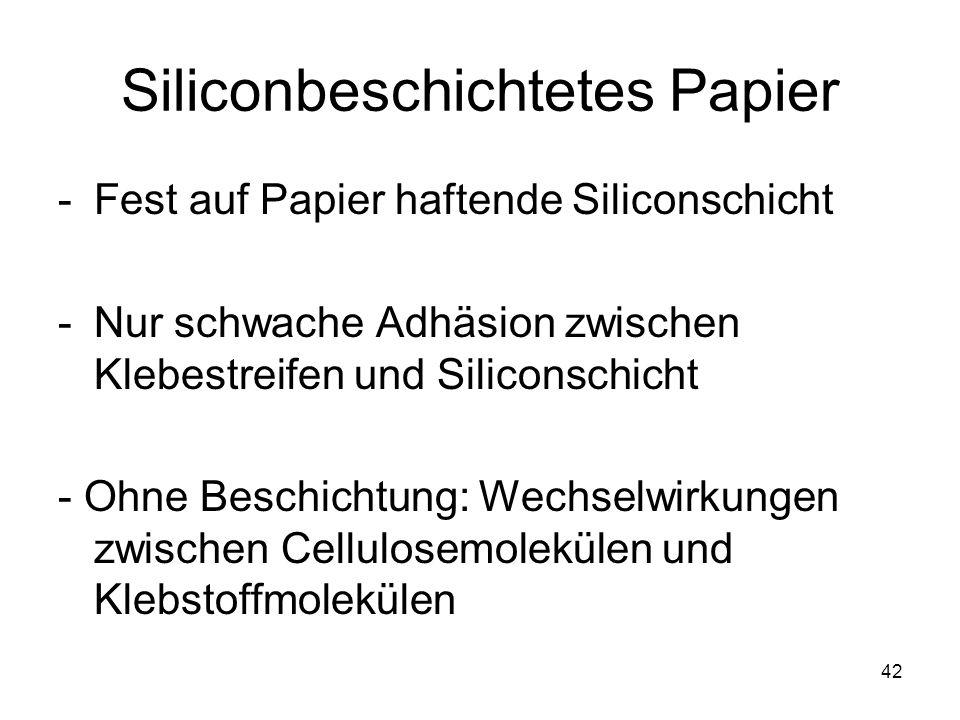 Siliconbeschichtetes Papier