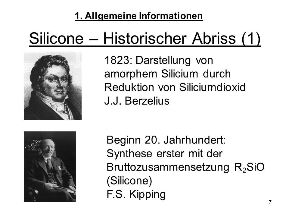 Silicone – Historischer Abriss (1)