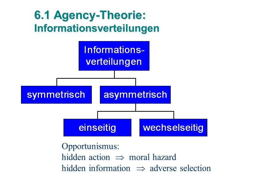6.1 Agency-Theorie: Informationsverteilungen