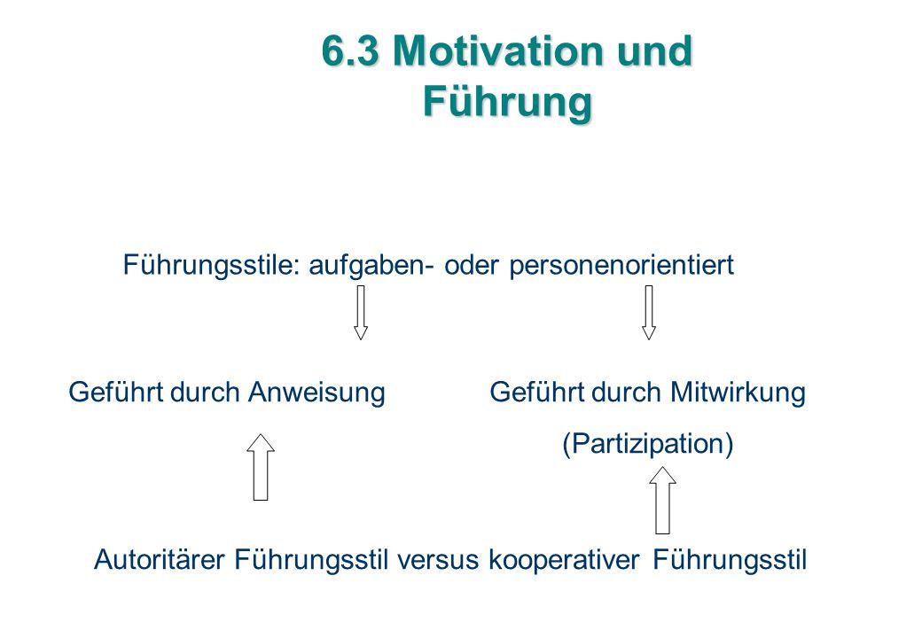 6.3 Motivation und Führung