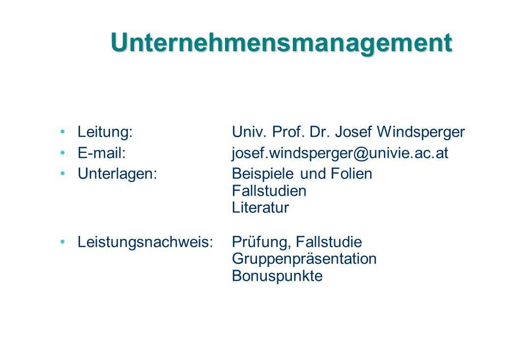 Unternehmensmanagement