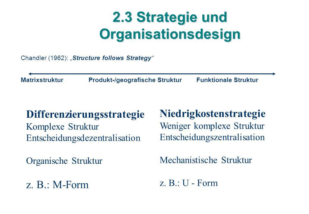 2.3 Strategie und Organisationsdesign