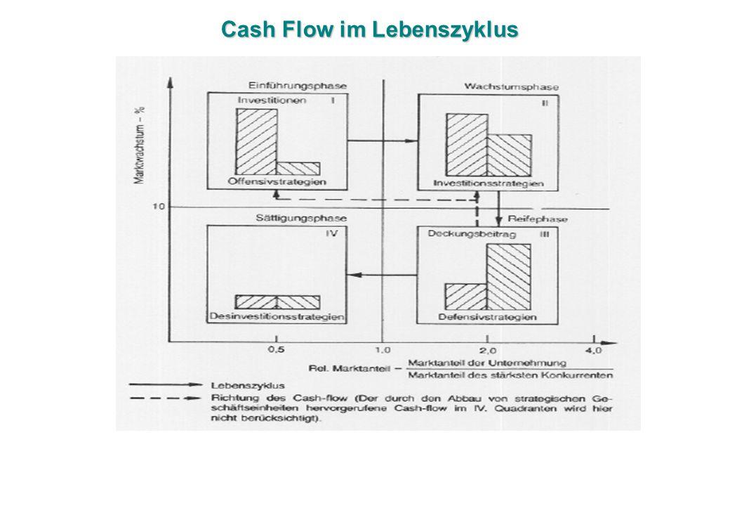 Cash Flow im Lebenszyklus