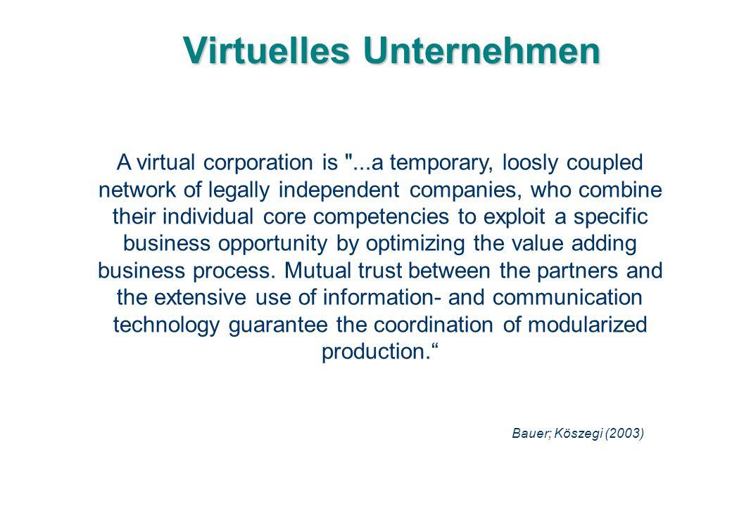 Virtuelles Unternehmen