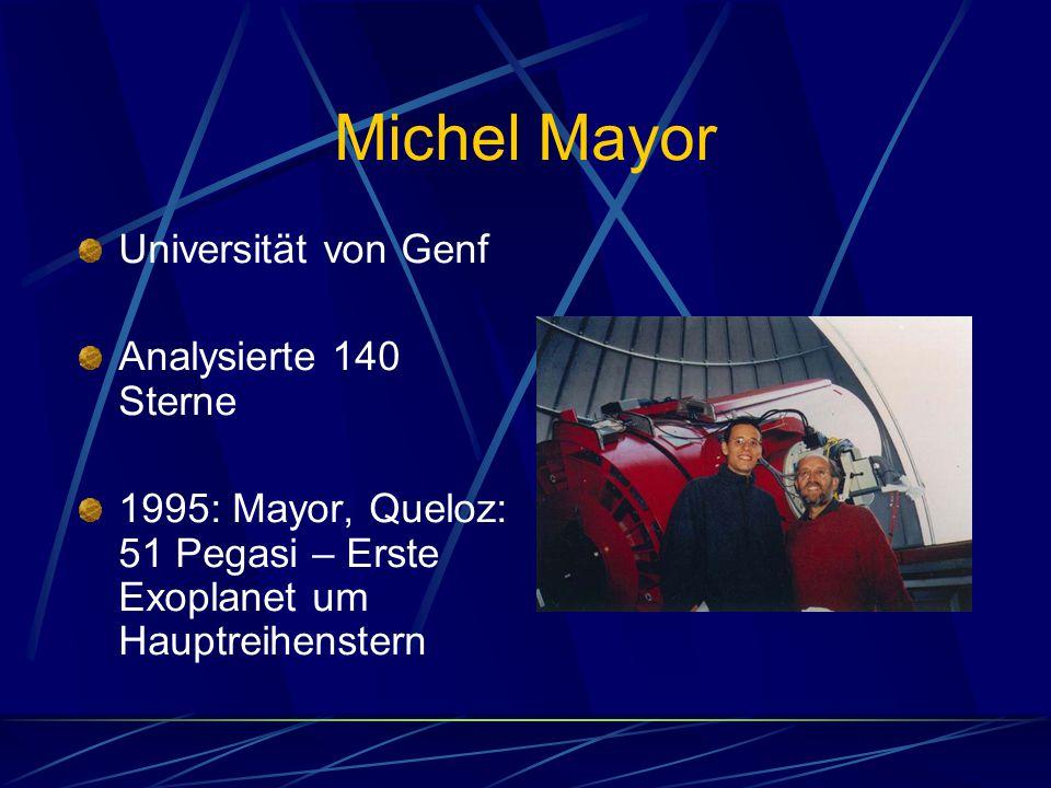 Michel Mayor Universität von Genf Analysierte 140 Sterne