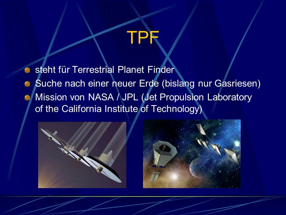 TPF steht für Terrestrial Planet Finder