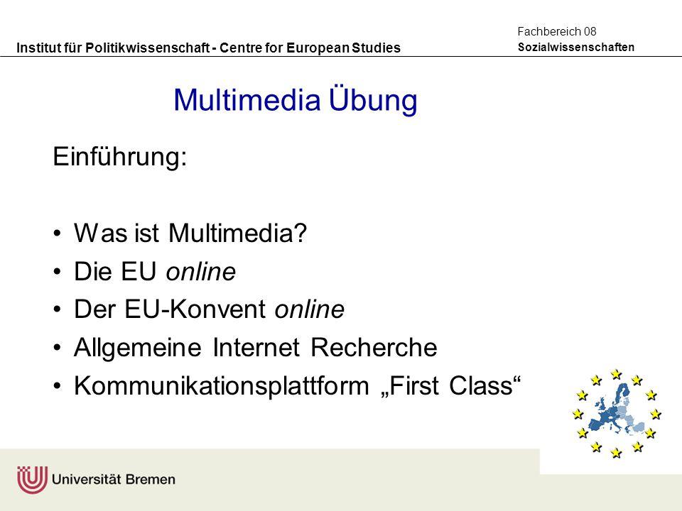 Multimedia Übung Einführung: Was ist Multimedia Die EU online