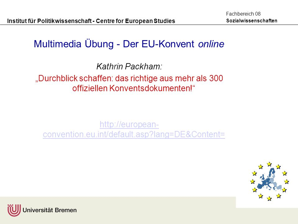 Multimedia Übung - Der EU-Konvent online