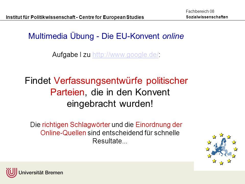 Multimedia Übung - Die EU-Konvent online