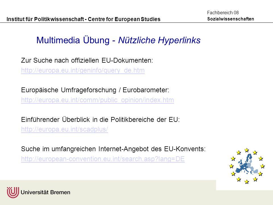 Multimedia Übung - Nützliche Hyperlinks